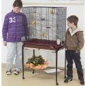 Klatka dla ptaków ASYA 72 bordo, ze stojakiem - 77 x 44 x 139cm