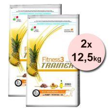 Trainer Fitness3 Adult MEDIUM MAXI, z królikiem i ziemniakami - 2x12,5 kg