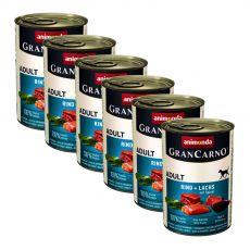 Konserwa GranCarno Fleisch Adult łosoś+szpinak - 6x400 g