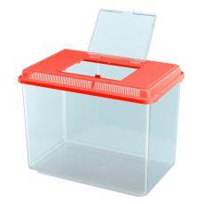 Plastikowy przenośny pojemnik Ferplast GEO MAXI - czerwony, 21L