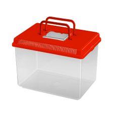 Plastikowy pojemnik Ferplast GEO LARGE - czerwony, 6L