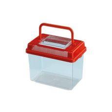 Plastikowy pojemnik Ferplast GEO MEDIUM - czerwony, 2,5L