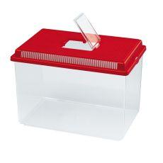 Plastikowy pojemnik Ferplast GEO EXTRA LARGE - czerwony, 11L