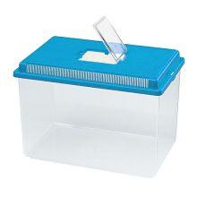 Plastikowy pojemnik Ferplast GEO EXTRA LARGE - niebieski, 11L
