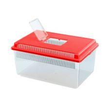 Przenośny pojemnik dla gadów i owadów GEO FLAT SMALL - czerwony, 4L