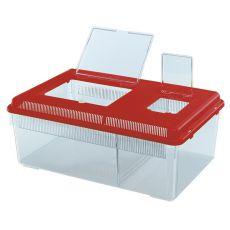 Przenośny pojemnik dla gadów i owadów GEO FLAT LARGE - czerwony, 8L