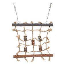 Zabawka dla ptaków - ścianka wspinaczkowa do zawieszenia, 27 x 24 cm