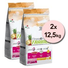 Trainer Fitness3 Junior MEDIUM MAXI - kaczka z ryżem 2x12,5 kg