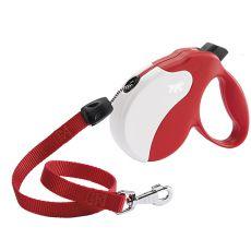 Amigo Long smycz do 20kg - 7m linka, biało-czerwona