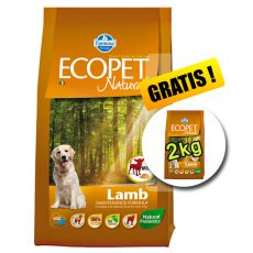 Farmina MO P ECOPET N dog LAMB MINI 12 kg + 2 kg GRATIS