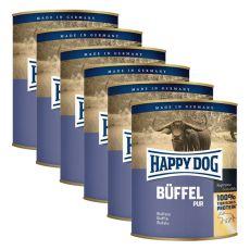 Happy Dog Pur - Büffel/mięso bawole, 6 x 800g, 5+1 GRATIS