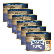 Happy Dog Pur - Büffel/mięso bawole, 6 x 200g, 5+1 GRATIS