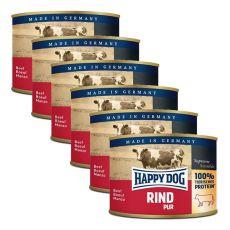 Happy Dog Pur - Rind/wołowina, 6 x 200g, 5+1 GRATIS