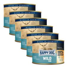 Happy Dog Pur - Wild/dziczyzna, 6 x 200g, 5+1 GRATIS