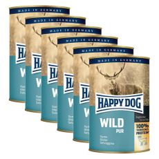 Happy Dog Pur - Wild/dziczyzna, 6 x 400g, 5+1 GRATIS