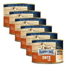 Happy Dog Pur - Ente/kaczka, 6 x 200g, 5+1 GRATIS