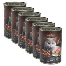 Konserwa dla kotów Leonardo - z wątrobą  6 x 400g