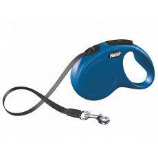 Flexi New Classic S smycz do 15kg, 5m taśma - niebieska