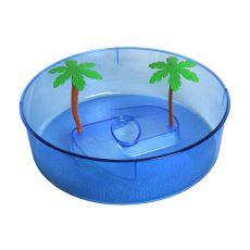 Plastikowe terrarium dla żółwi - niebieskie, okrągłe 24,5cm