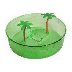 Plastikowe terrarium dla żółwi - zielone, okrągłe 24,5cm