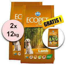Farmina MO P ECOPET N dog LAMB MINI 2 x 12 kg + 4kg GRATIS
