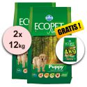Farmina MO P ECOPET N dog PUPPY MEDIUM 2 x 12 kg + 4 kg GRATIS