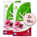 Farmina N&D dog GF PUPPY SMALL & MED Chicken & Pomegranate 2 x 12 kg