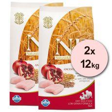 Farmina N&D dog LG ADULT Chicken & Pomegranate 2 x 12 kg