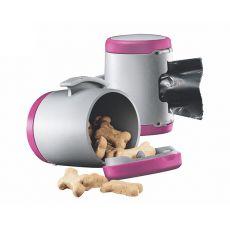 Flexi Vario Multi Box pojemnik, różowy + woreczki na odpady