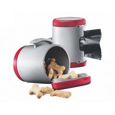 Flexi Vario Multi Box pojemnik, czerwony + woreczki na odpady