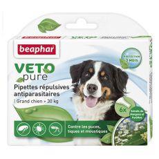 Krople przeciwko pasożytom, dla psów dużych ras, naturalne - 6 szt.