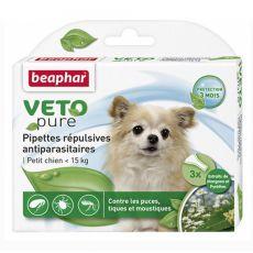 Krople przeciwko owadom dla psów małych ras, naturalne - 3 szt.