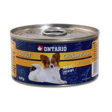 Konserwa ONTARIO Adult dla psów, kawałki mięsa z kurczaka + nuggets, 200g