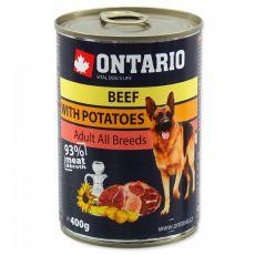 ONTARIO konserwa dla psa, wołowina, ziemniaki i olej - 400g
