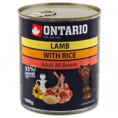 Konserwa ONTARIO dla psów, jagnięcina, ryż i olej - 800g