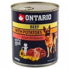 Konserwa ONTARIO dla psów, wołowina, ziemniaki i olej - 800g