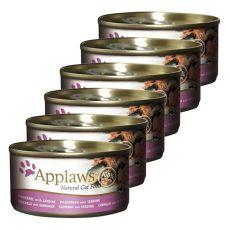 Applaws Cat – konserwa dla kotów z makrelą sardynią, 6 x 70g
