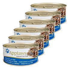 Applaws Cat – konserwa dla kotów z tuńczykiem i rakiem, 6 x 70g