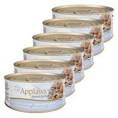 Applaws Cat – konserwa dla kotów z tuńczykiem i serem, 6 x 70g