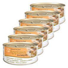 Applaws Cat Jelly – konserwa dla kotów z kurczakiem i makrelą, 6 x 70g