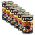 ONTARIO konserwa dla psów, wołowina, ziemniaki i olej - 6x400g