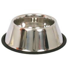 Miska dla psów z długimi uszami - stal nierdzewna, antypoślizgowa - 0,9l/16cm