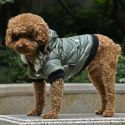 Kurtka dla psa z futerkiem na kapturze - zielona, M