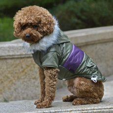 Kurtka dla psa z naszywką – zielona, XL