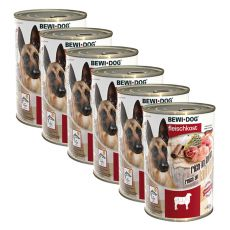 Konserwa New BEWI DOG – jagnięcina - 6 x 400g, 5+1 GRATIS