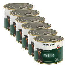 Pasztet Bewi dog – Wild - 6 x 200g, 5+1 GRATIS