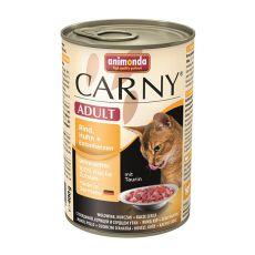 CARNY ADULT karma z wołowiny i kurczaka + kacze serce - 400 g