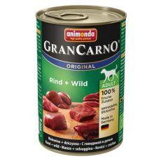 Konserwa GranCarno Original Adult z wołowiną i dziczyzną - 400g
