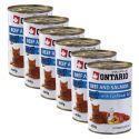 Konserwa ONTARIO dla kotów – wołowina, łosoś, olej - 6 x 400g