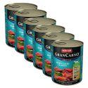Konserwa GranCarno Fleisch Adult łosoś+szpinak - 6 x 800g